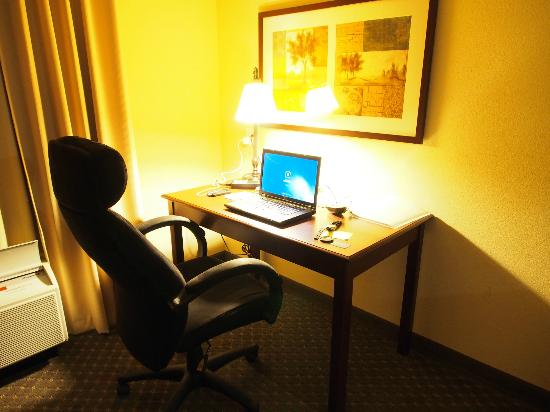 Hampton Inn & Suites Denver Littleton: Work desk and fast internet complimentary. Look at this work chair!!
