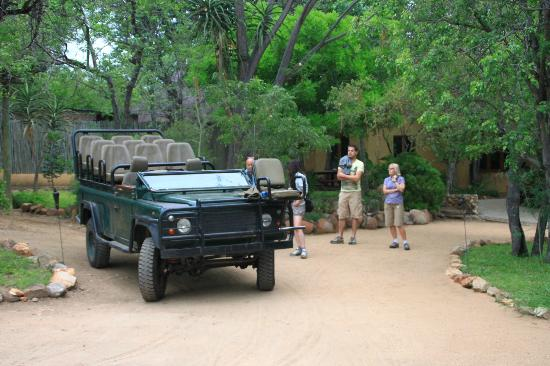 Toro Yaka Bush Lodge: the 9 seater Landrover