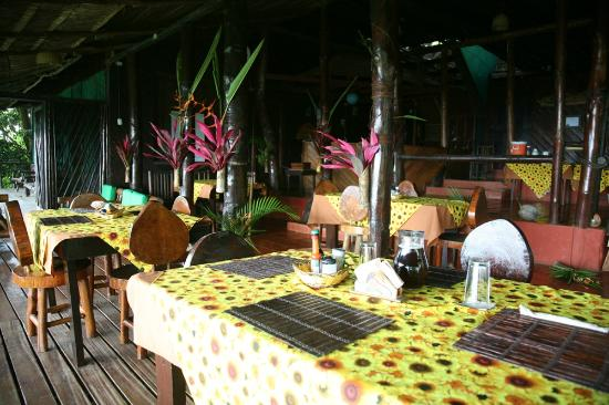 Punta Marenco Lodge: The restaurant