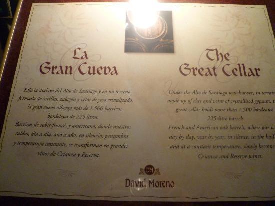 Bodegas David Moreno: La Gran Cueva