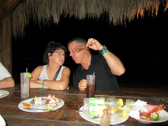 Infinity Bay Spa and Beach Resort: Exellent Lobster feast! me and my better half