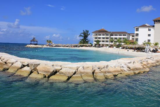 Secrets St. James Montego Bay: One of the coves for swimming