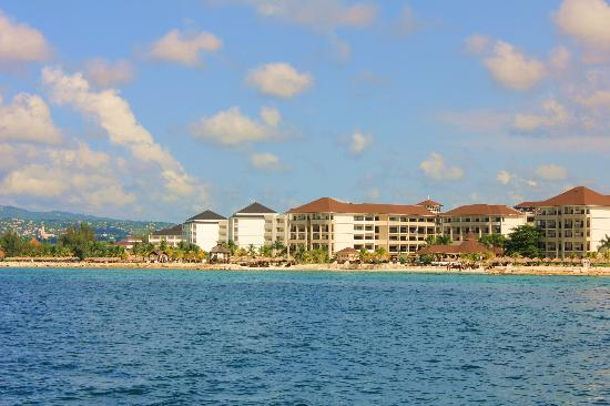 Secrets St. James Montego Bay: Hotel from aboard the Tropical Dreamer