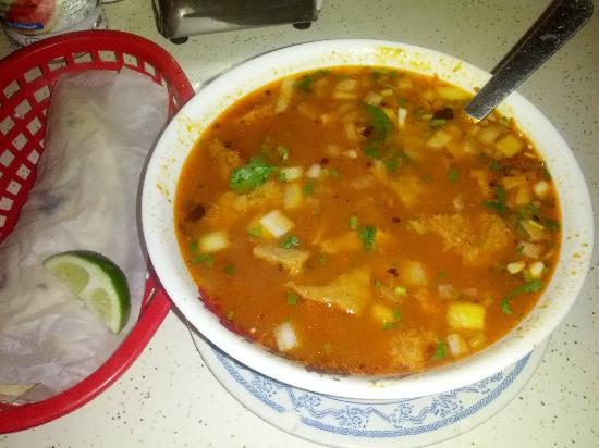 La Casita : menudo with home tortillas. AMAZING!