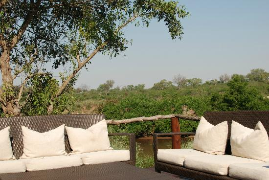 Lion Sands River Lodge: view from pool deck
