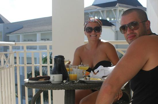 Secrets St. James Montego Bay: Breakfast on the Balcony