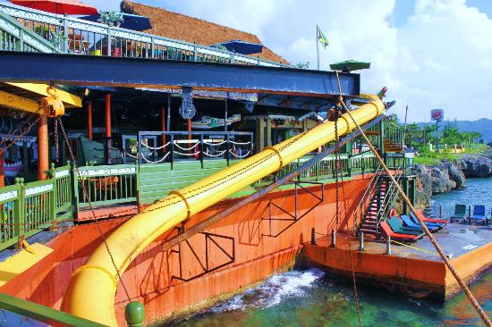 Secrets St James: Waterslide at Margaritaville