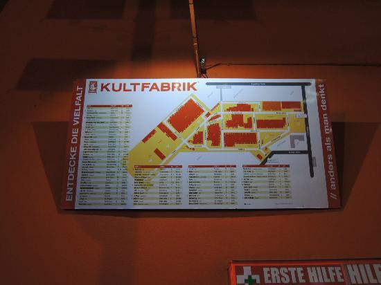 Kultfabrik: mapa