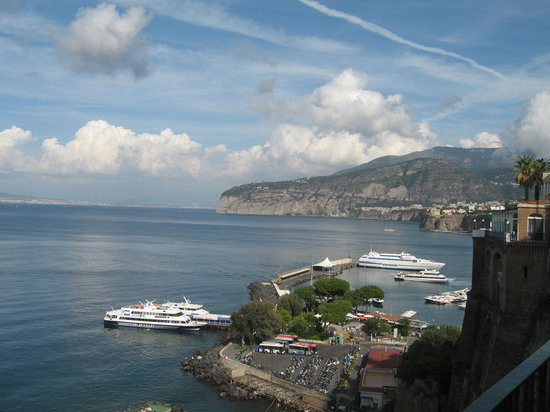Sorrento Apartments: The Bay of Naples view, 1 minute from apartments.
