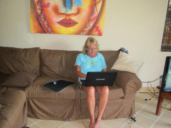 CayeReef: Livingroom with WiFi