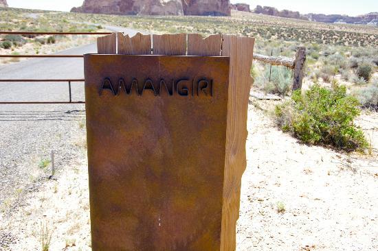 Entrée de l'Amangiri, plus que 3 km...