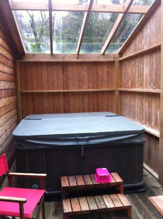 Rosehill Lodges: Hot tub!