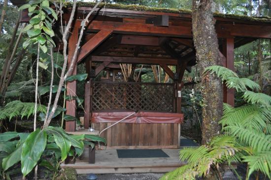 Volcano Rainforest Retreat: Rainforest hot tub