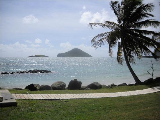 Coconut Bay Beach Resort & Spa: View of distant islands from the grounds