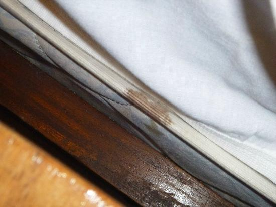 Boyeros Hotel & Conference Center : stains of every color imaginable on our mattresses