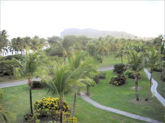 Coconut Bay Beach Resort & Spa: A dusk view of the Harmony grounds from the balcony of room 443