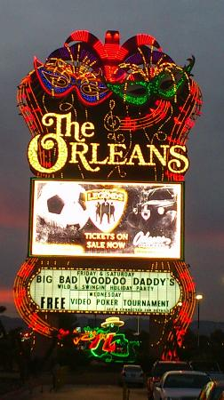 The Orleans Hotel & Casino: Can't miss this sign
