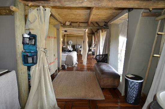 Wilderness Safaris Mombo Camp: Room the size of an apartment