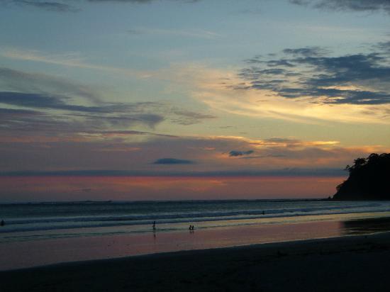 Samara Beach: everyone sits and watches the most beautiful sunsets each day
