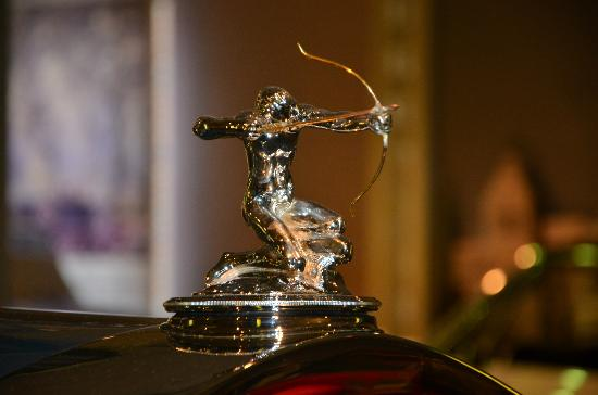 Saratoga Springs, NY: Hood Ornament 1931 Pierce Arrow