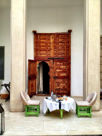 Riad Due: entry doors to the suite abdel