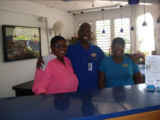 Divi Carina Bay All Inclusive Beach Resort: Front desk staff