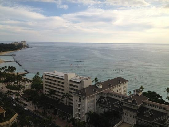 Sheraton Princess Kaiulani: partial view from 2152 balcony (buildings to left)