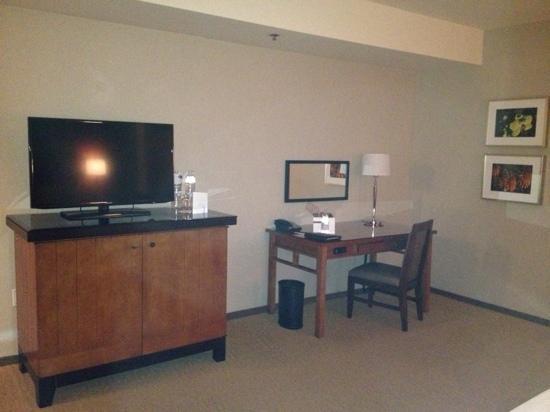 Omni San Diego Hotel: TV and desk