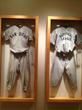 Omni San Diego Hotel: Some of the baseball memorabilia in the hotel