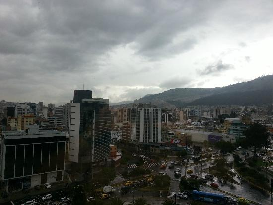JW Marriott Hotel Quito: View to the South from the 10th floor facing the street