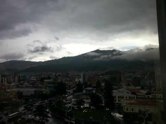 JW Marriott Hotel Quito: View to the East from the 10th floor facing the street