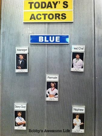 Hongdae NANTA Theatre : The Blue Cast - many different casts each represented by a color