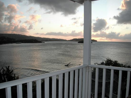 St. James's Club Morgan Bay: Sunset view each night from our room