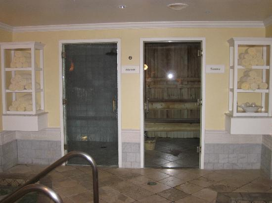 Kohler Waters Spa: Steam Room and Sauna