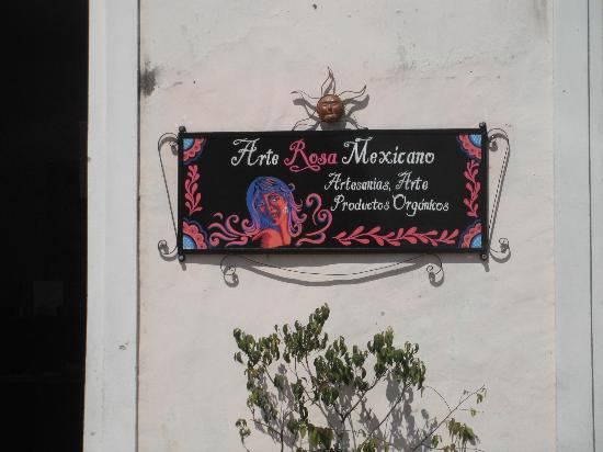 Arte Rosa Mexicano : The store sign