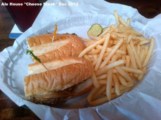 Kahului Ale House: Cheese steak (with peppers and onions) with fries