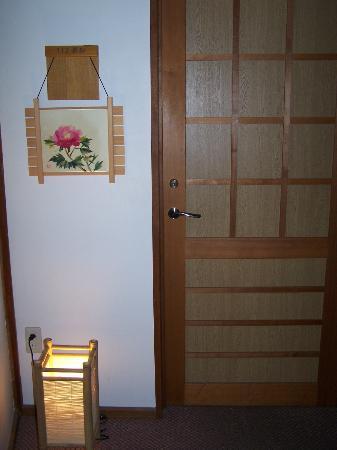 Kisojino-yado Iwaya: The entry to our room