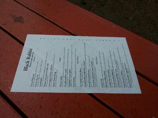 McMenamins Edgefield: menu