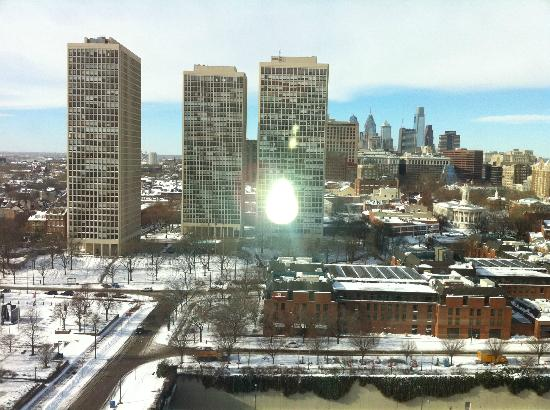 Hilton Philadelphia at Penn's Landing: city view after snowfall