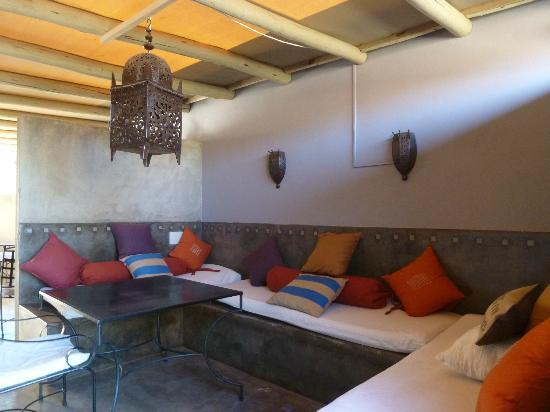 Olive Grove: Moroccan-themed lounge/dining area upstairs