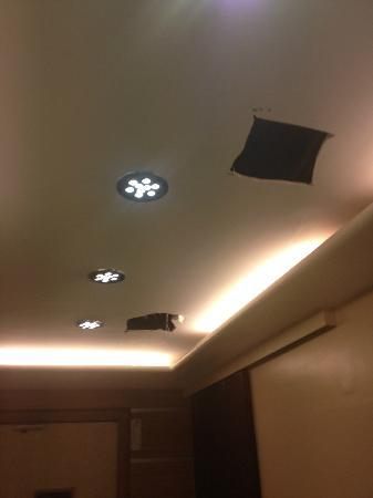 Hotel Fortune : Holes in the ceiling