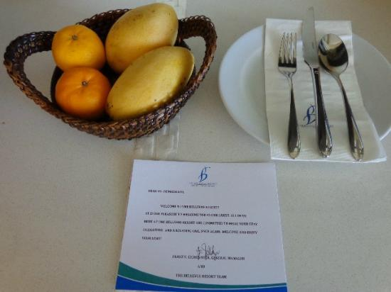 The Bellevue Resort Bohol: complimentary fruits