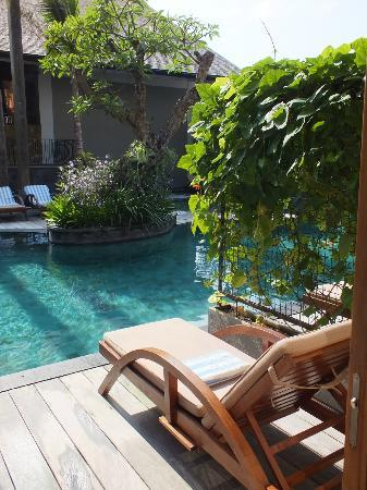 The Oasis Lagoon Sanur: One side of our deck