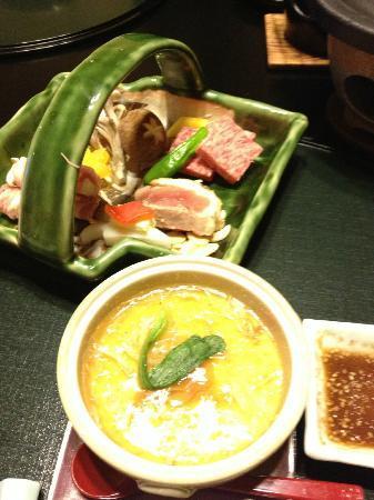 Kozantei Ubuya: 夕食のメイン