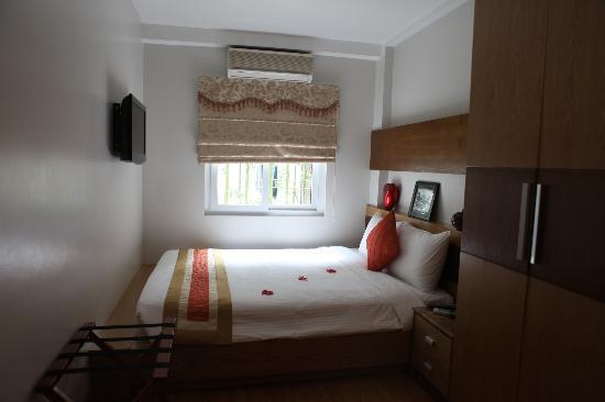 Hanoi Elegance Ruby: Kleinste Zimmerkategorie. Sehr hübsch und funktional.