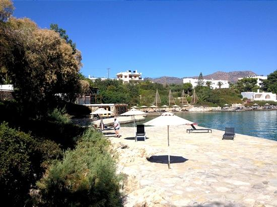 Minos Beach Art hotel: Another section of the stunning beach area