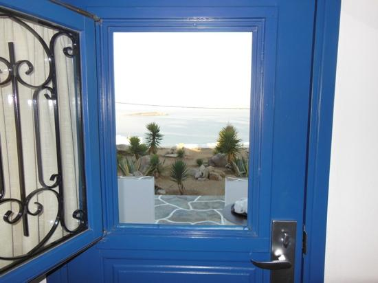 Myconian K Hotels: looking out our doorway