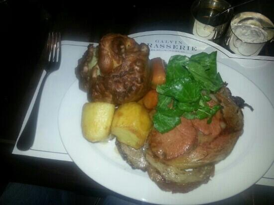 Galvin Brasserie de Luxe: The Sunday Roast...such great value for an amazing lunch!