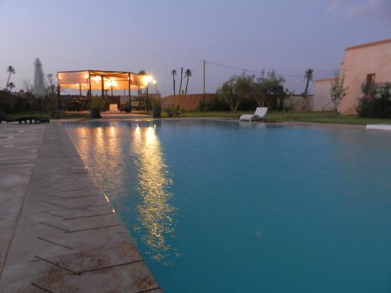 Villa Rayane : Pool view at night