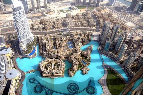 Burj Khalifa From The Top View Picture Of Burj Khalifa
